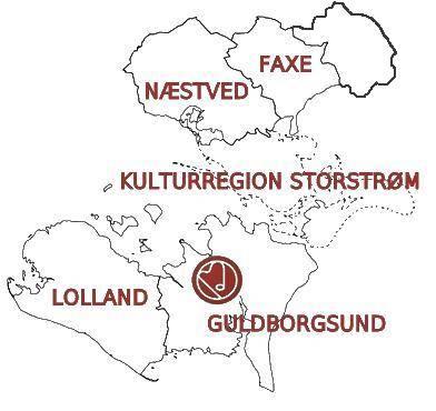 Kort over Kulturregion Storstrøm