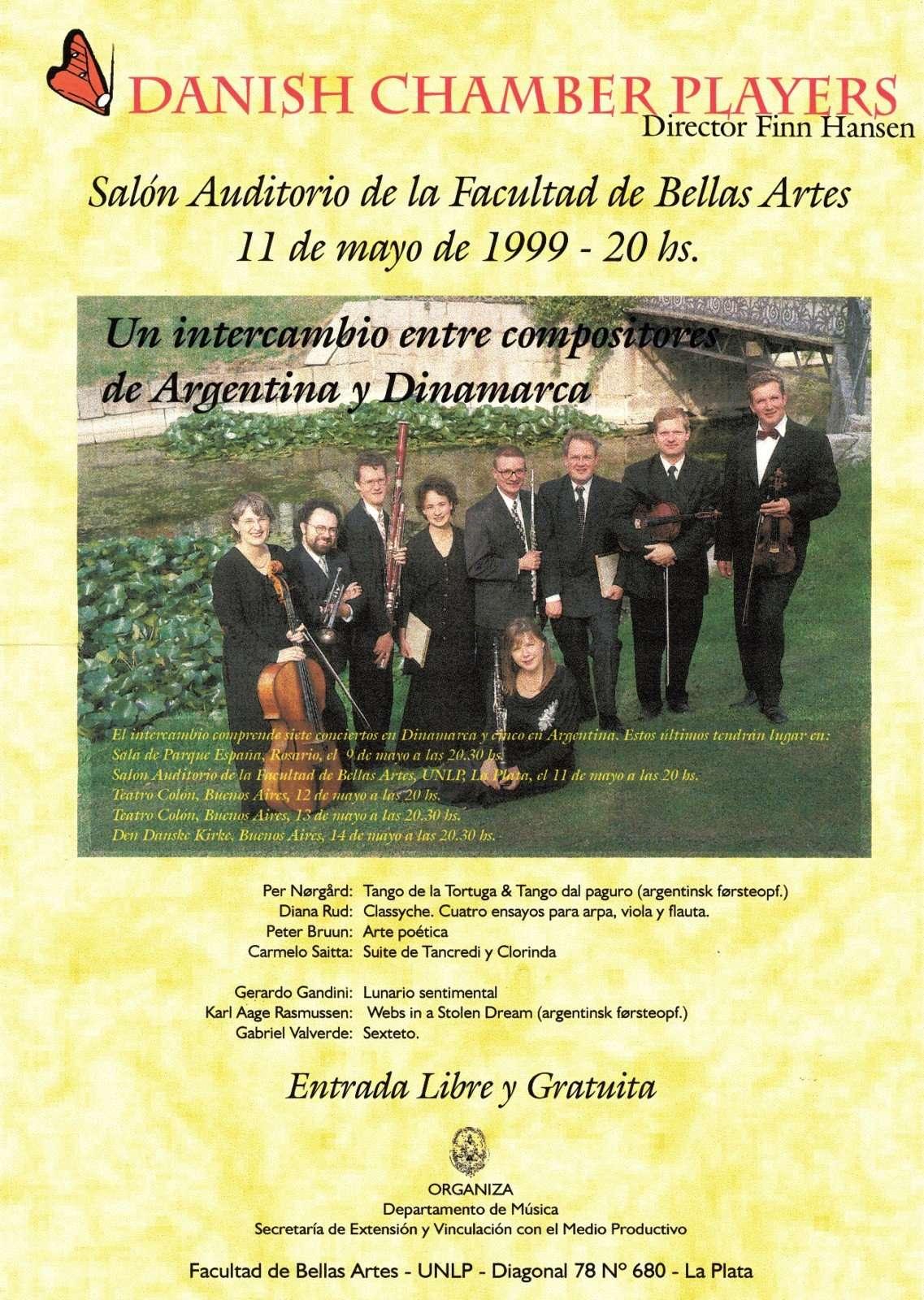 Koncertplakat fra Argentina