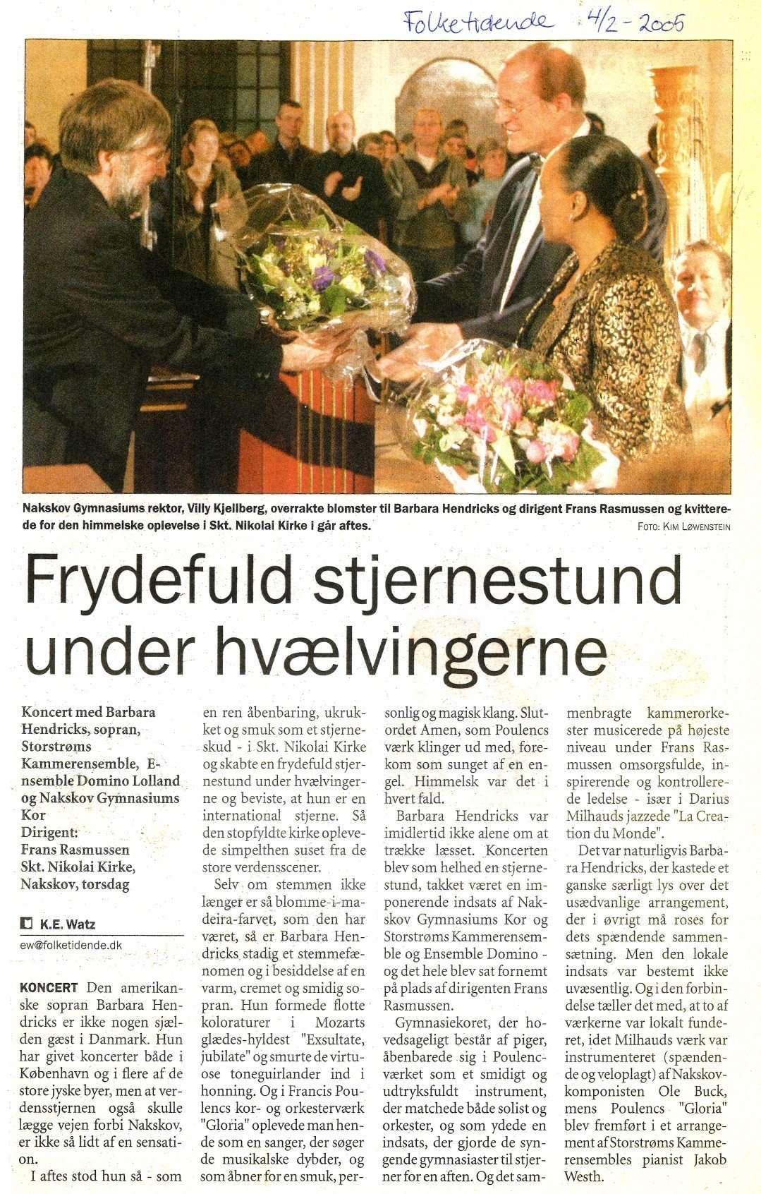 Anmeldelse i Folketidende, februar 2005