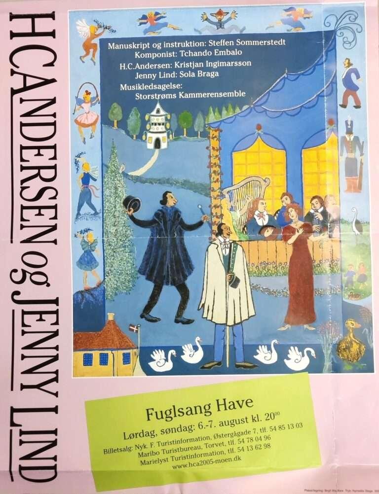"""""""HC Andersen og Jenny Lind"""" plakat"""