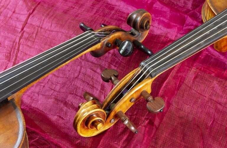 En violin og en bratsch